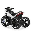Дитячий електромобіль Мотоцикл M 4228 EL-1, POLICE, колеса EVA, шкіряне сидіння, білий, фото 5