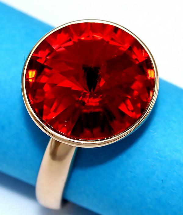 Кольца с кристаллами Swarovski фирмы XUPING. Цвет позолота. Есть: 16р. 17р. 18р. 20р. 21р.   Ширина: 15 мм.