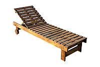 Шезлонг деревянный крашенный