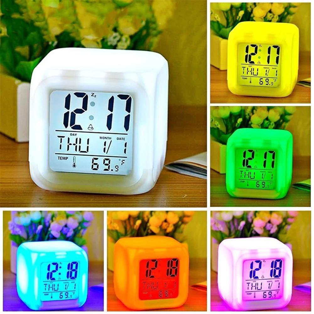 Часы ночник хамелеон COLOR CHANGING CLOCK