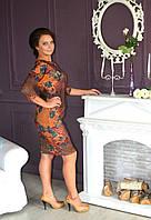 Гламурное молодежное платье в модный принт