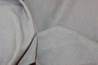 Ткань Лен натуральный, серый, оливковый тоном № 161, фото 1