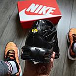 "Мужские кроссовки Nike Air Max Tn+ plus ""Triple black"". Топ качество! Живое фото (Реплика ААА+), фото 4"