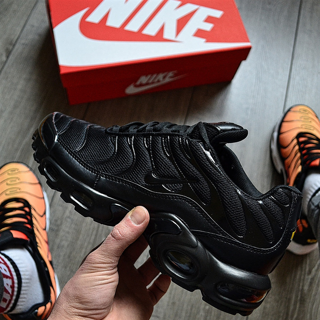 "Мужские кроссовки Nike Air Max Tn+ plus ""Triple black"". Топ качество! Живое фото (Реплика ААА+)"