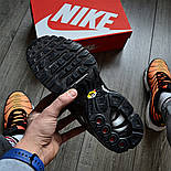 "Мужские кроссовки Nike Air Max Tn+ plus ""Triple black"". Топ качество! Живое фото (Реплика ААА+), фото 3"