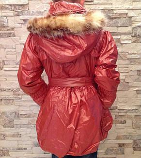 Пальто демисезонное с капюшоном для девочек Алиса, фото 2