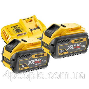 Зарядное устройство DeWALT DCB118X2  Li-Ion, 18 В/54 В + 2 аккумулятора DCB547 9 А*ч, фото 2