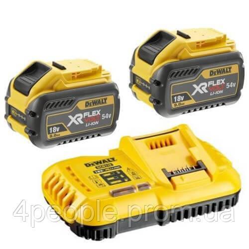 Зарядное устройство DeWALT DCB118X2  Li-Ion, 18 В/54 В + 2 аккумулятора DCB547 9 А*ч