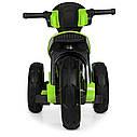 Детский электромобиль Мотоцикл M 4228 EL-5, POLICE, колеса EVA, кожаное сиденье, зеленый, фото 2