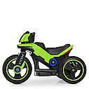 Детский электромобиль Мотоцикл M 4228 EL-5, POLICE, колеса EVA, кожаное сиденье, зеленый, фото 3