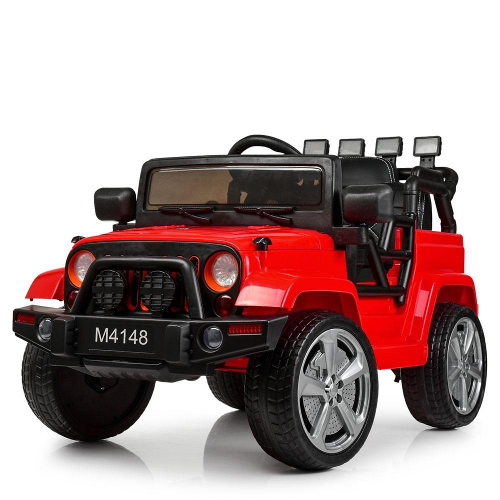 Детский электромобиль Jeep Wrangler M 4148EBLR-3 красный
