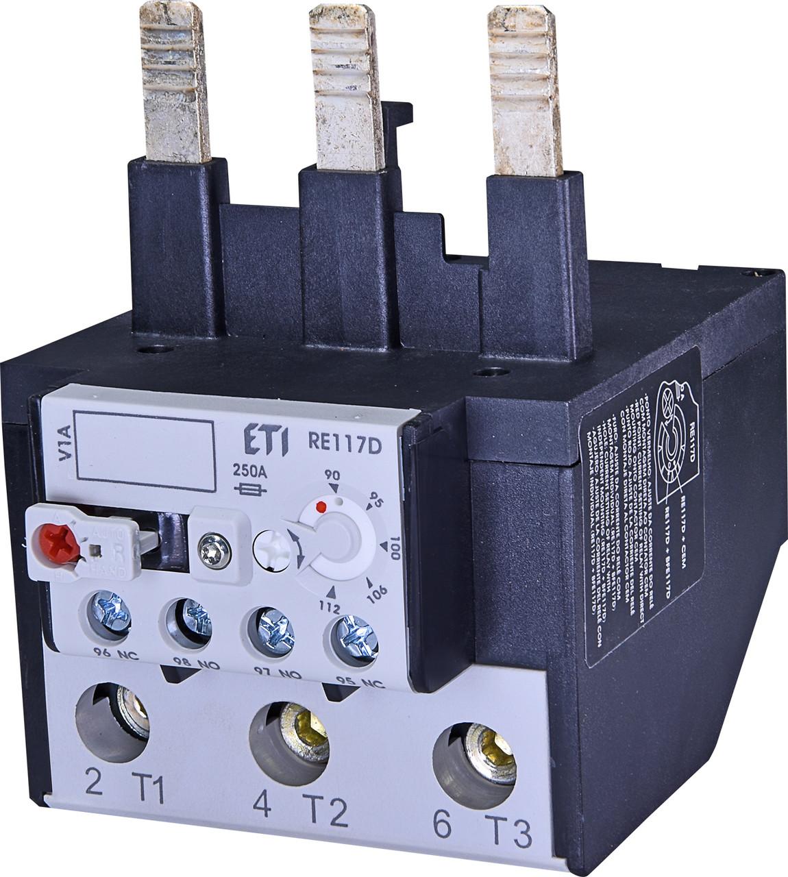Тепловое реле ETI RE 117.1D-112 (90-112A) CEM95-CEM105 4645422 (для контакторов CEM95, CEM105)