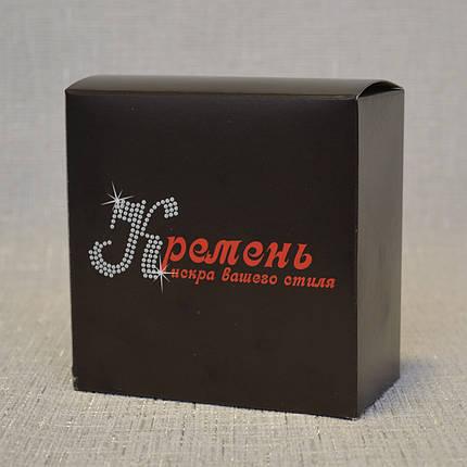 Кожаный ремень серого цвета с тёмными краями 134, фото 2