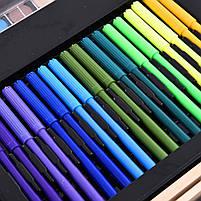 Набор для рисования Painting Set 180 предметов Чемоданчик Карандаши Краски Палитра Степлер, фото 6