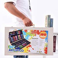 Набор для рисования Painting Set 180 предметов Чемоданчик Карандаши Краски Палитра Степлер, фото 7