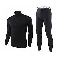Спортивное термобелье ESDY A154 L Black для активного отдыха мужское термо костюм