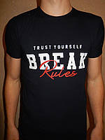 Футболка мужская RBS, накатка стрейч коттон BREAK 002 \ купить футболку мужскую оптом