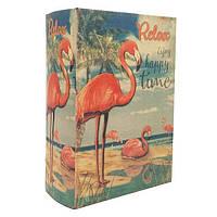"""Сейф-книга """"Фламинго"""" книга тайник в твердом переплете Размеры: 15,7-22-7 см"""