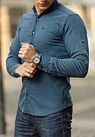 Приталенная джинсовая рубашка