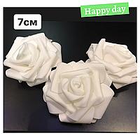 Роза латексная белая 7 см., набор 3 шт.