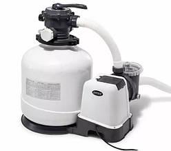 Песочный фильтр-насос для бассейна Intex 26646, 7,9 м3/ч, резервуар для песка 23 кг