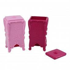 Подставка для салфеток c бабочкой розовая