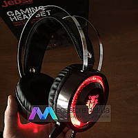 Игровые наушники с микрофоном JEDEL GH183 Gaming Headset геймерские для компьютера и ноутбука с RGB подсветкой