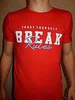 Футболка мужская RBS, накатка стрейч коттон BREAK 004 \ купить футболку мужскую оптом