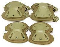 Защита наколенники,налокотники штурмовые тактические, набор Shell. Захист наколінники, налокітники тактичні. олива