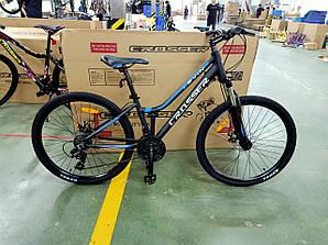 Велосипед CROSSER 24  LEVIN 12 2020 года Черно\Синий цвет