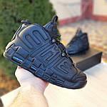 Мужские кроссовки Nike Air More Uptempo (черные) 1987, фото 2