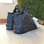 Мужские кроссовки Nike Air More Uptempo (черные) 1987, фото 7