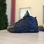 Мужские кроссовки Nike Air More Uptempo (черные) 1987, фото 9