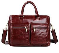 Вместительная кожаная сумка-портфель 7270C, фото 1