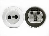 Розетка РС6-034 круглая (белая)