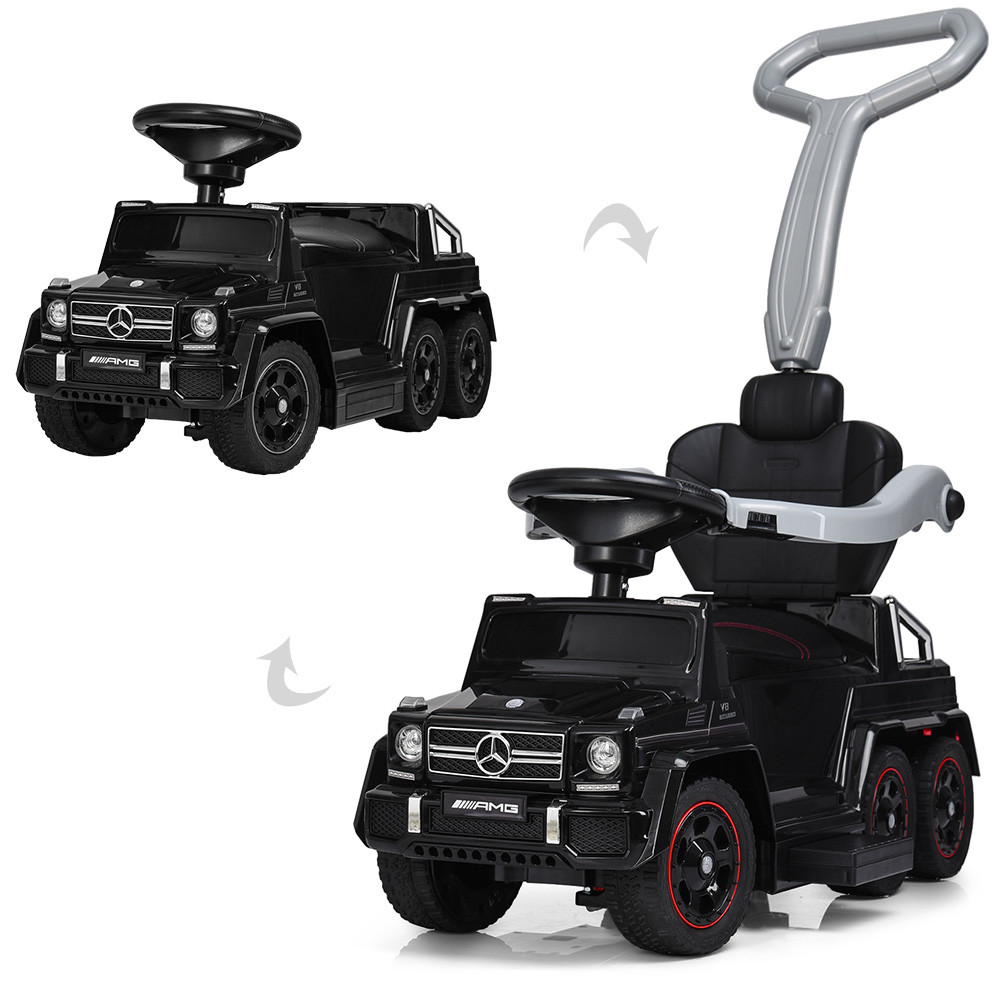 Электромобиль (каталка - толокар) с двумя сиденьями Mercedes (свет фар,муз,MP3) арт. 3853-2