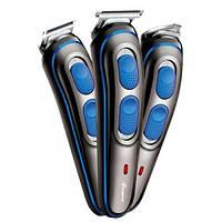 ✂ Новинка 2020! Беспроводная акум. Машинка для стрижки волос Gemei 3 в 1 с насадками | AG410162