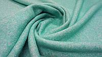 Пальтовая ткань букле салатового цвета