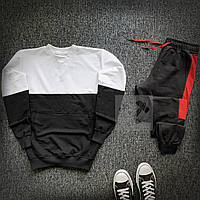 Спортивный костюм мужской Lampas CL x black-white | весенний осенний ТОП качество, фото 1