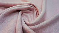 Пальтовая ткань букле пастельно-розового цвета