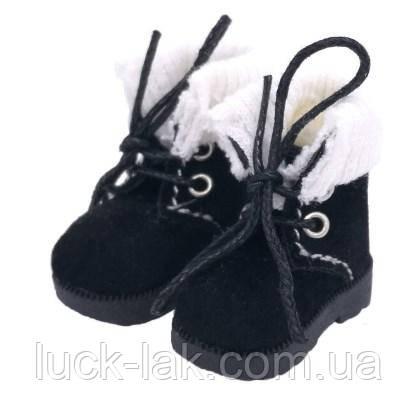 Замшеві черевики для ляльки Блайз (Blythe), Айсі, чорні