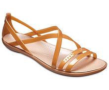 Босоножки женские Крокс Изабелла оригинал / Crocs Women's Isabella Cut Strappy Sandal (205149), Золотистые