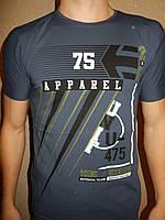 Футболка мужская RBS, накатка стрейч коттон APPAREL 001 \ купить футболку мужскую оптом