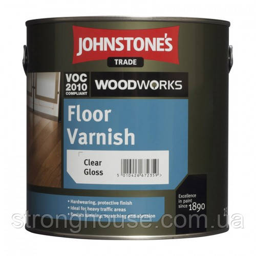 Johnstone's Floor Varnish Gloss 5л Лак для пола Джонстоун Флур Ванишь Глосс