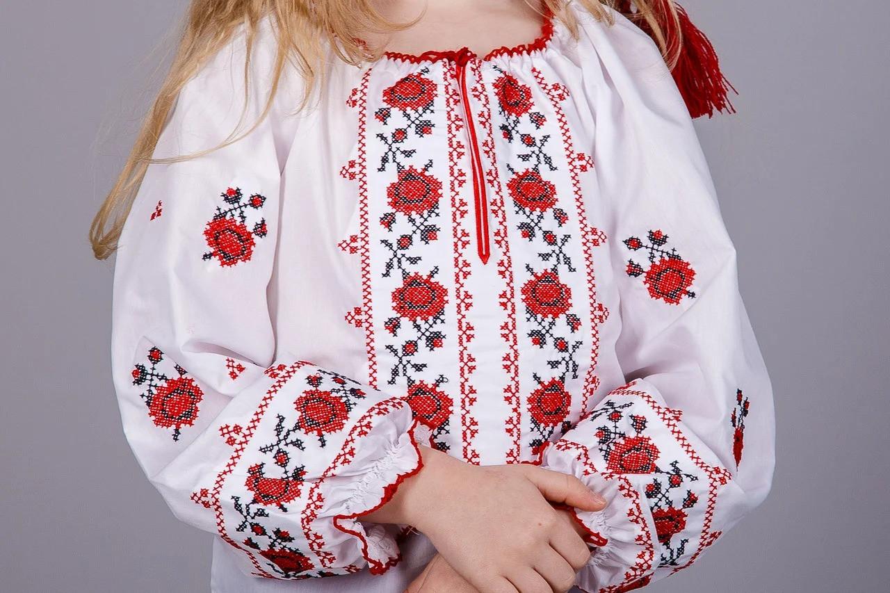 Детская вышиванка длинный рукав
