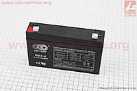 Аккумулятор OT7-6 - 6V7Ah (L150*W35*H94,mm) для ИБП, игрушек и др., 2019