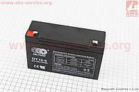 Аккумулятор OT12-6 - 6V12Ah (L150*W50*H94,mm) для ИБП, игрушек и др., 2019