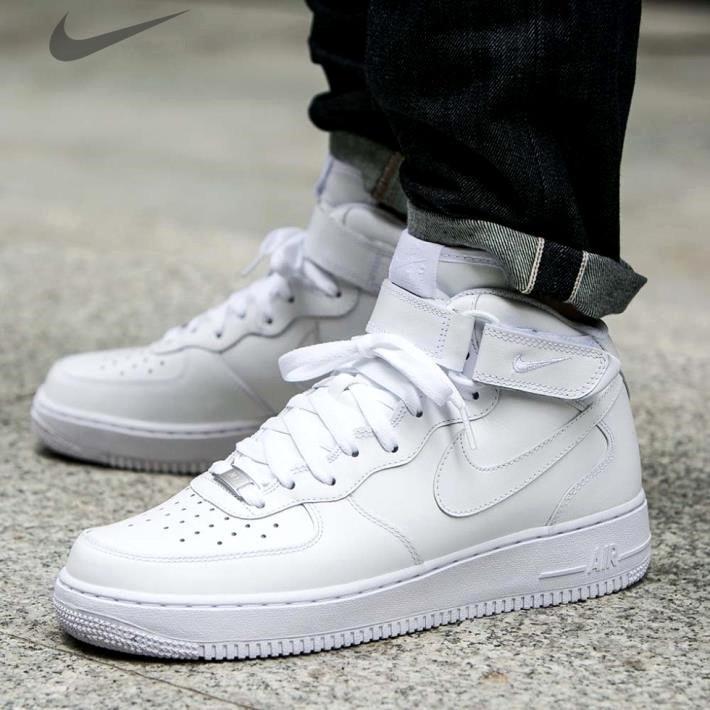 "Мужские кроссовки Nike Air Force 1 Mid ""White"", nike air force high"
