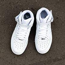 "Мужские кроссовки Nike Air Force 1 Mid ""White"", nike air force high, фото 2"