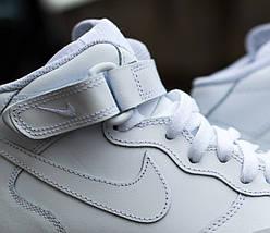 "Мужские кроссовки Nike Air Force 1 Mid ""White"", nike air force high, фото 3"